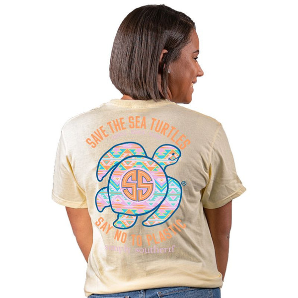 Save the Turtles Aztec Simply Southern Tee