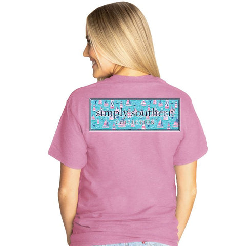 Simply Southern Lighthouse Logo Tee