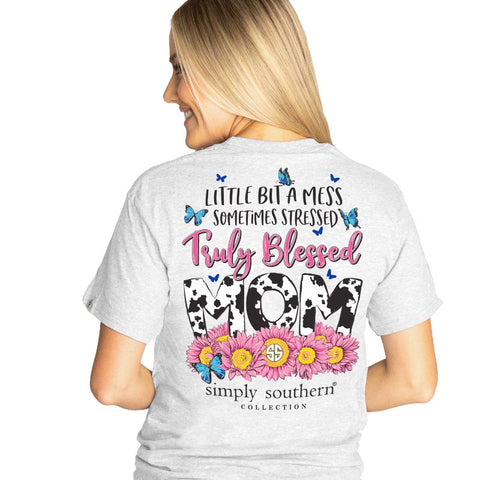 Truly Blessed Mom Simply Southern Ash Tee