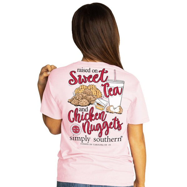 Raised on Sweet Tea & Nuggets Simply Southern Tee