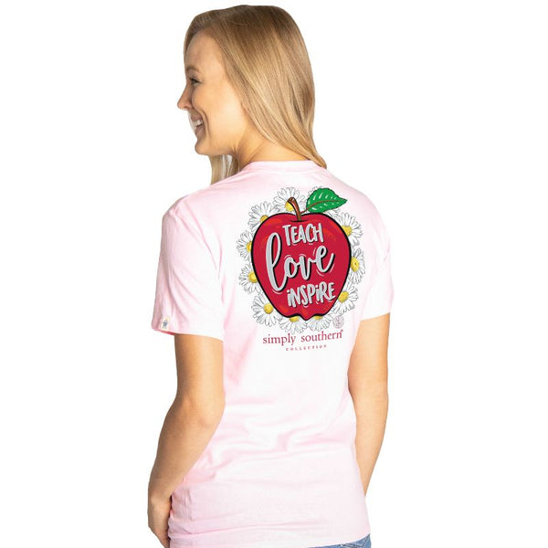 Teach, Love, Inspire Simply Southern Tee