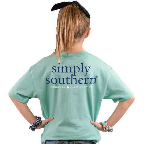 Sea Green Simply Southern Logo YOUTH Tee