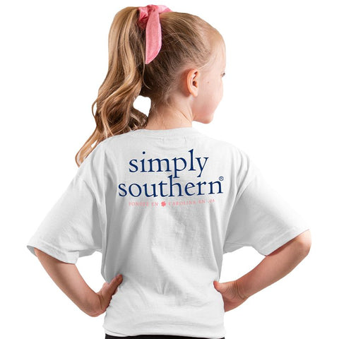 White Simply Southern Logo YOUTH Tee