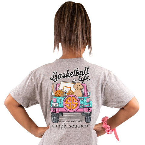 Basketball is Life Simply Southern YOUTH Tee