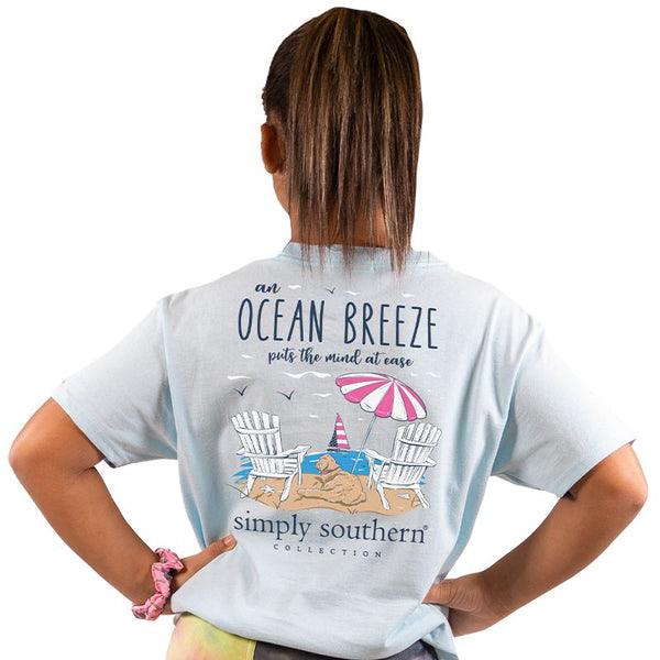 Ocean Breeze Puts the Mind at Ease Simply Southern YOUTH Tee