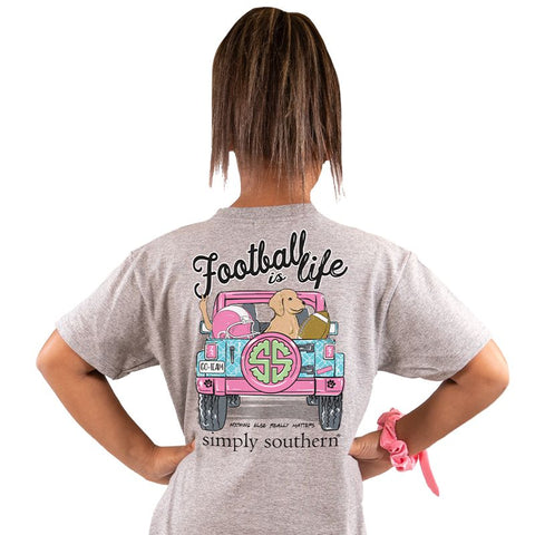 Football is Life Simply Southern YOUTH Tee