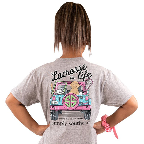 Lacrosse is Life Simply Southern YOUTH Tee