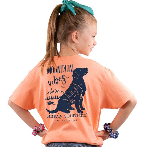Mountain Vibes Simply Southern YOUTH Tee