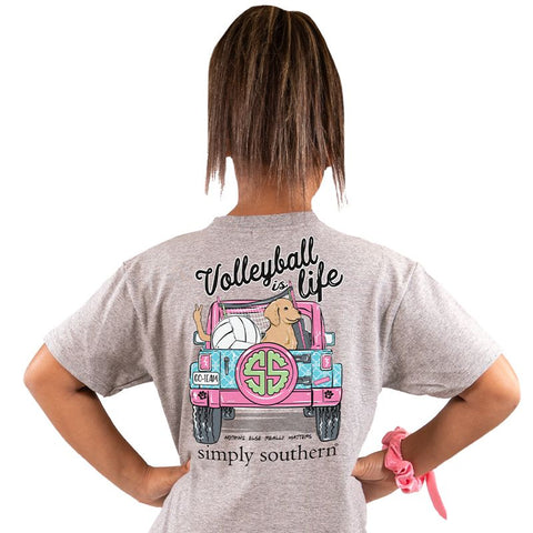Volleyball is Life Simply Southern YOUTH Tee