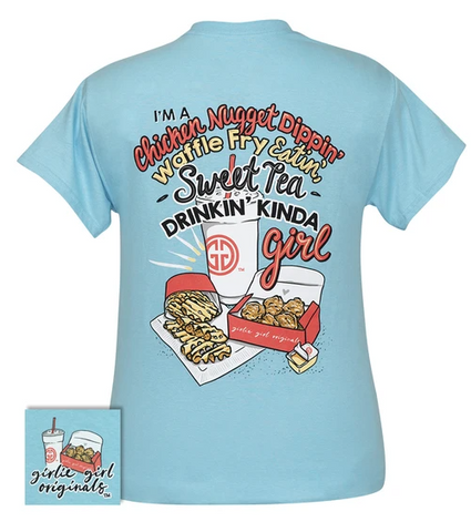 Nuggets & Fries Kind of Girl Girlie Girl Tee