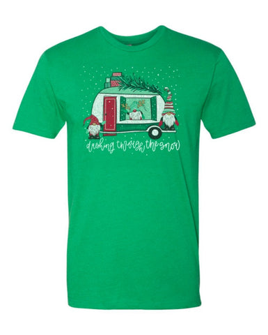 Dashing Through the Snow Southernology Front Print Tee