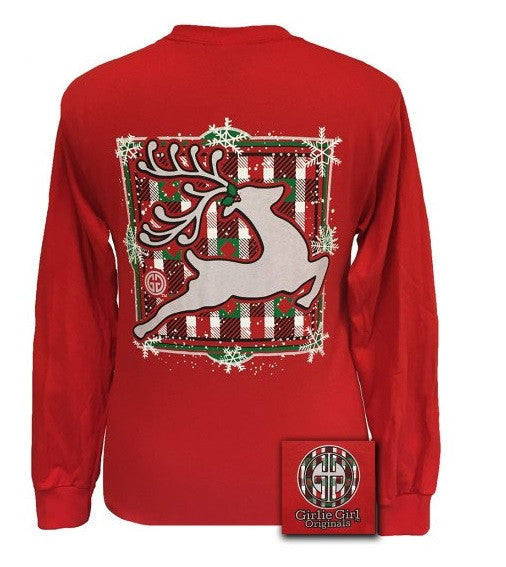 Preppy Reindeer Long Sleeve Tee