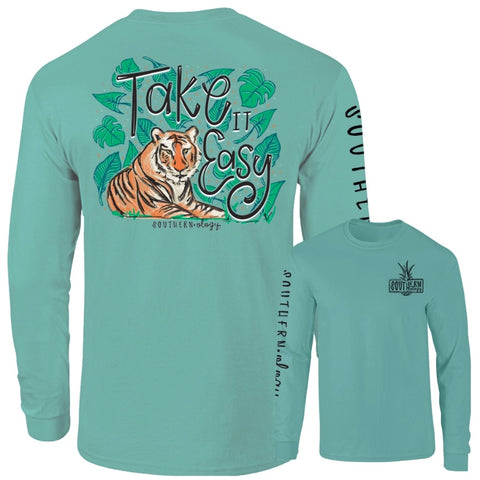 Take It Easy Southernology Comfort Color Long Sleeve Tee