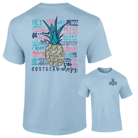 Talk Southern to Me Southernology Chambray Comfort Color Tee
