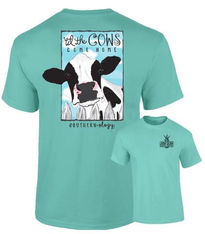 Til the Cows Come Home Mint Southernology Comfort Color Tee