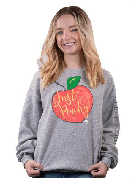 Just Peachy Simply Southern Crew Sweatshirt