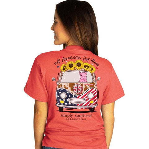 All American Hot Mess Simply Southern Tee