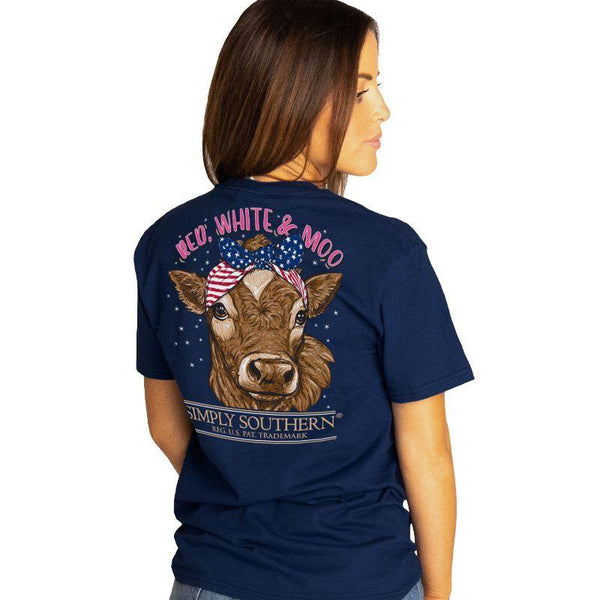 Red, White, & Moo Simply Southern Tee