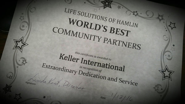 World's Best Community Partners Award to Keller International