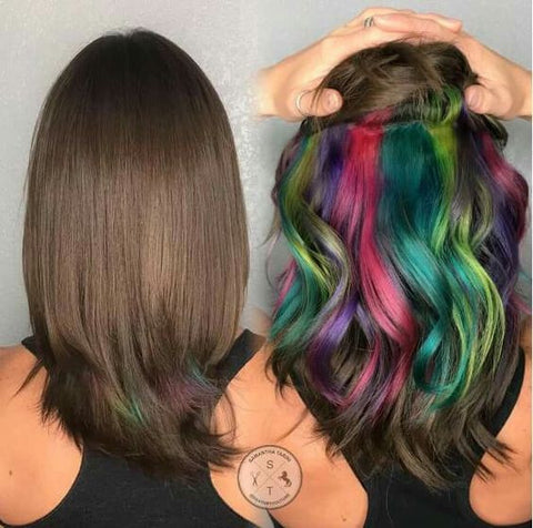 Peekaboo Rainbow Hair