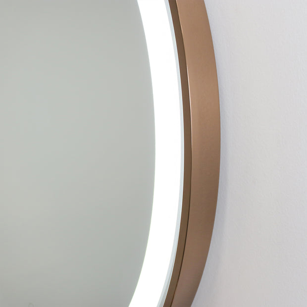 Phoenix LED Rose Gold MIrror
