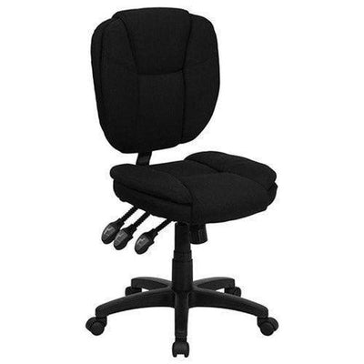 Black Ergonomic Manicure Technician Chair by Keller International