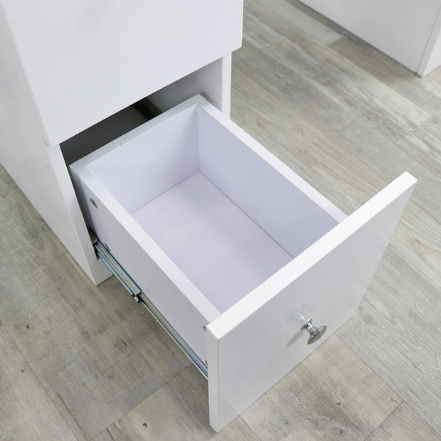 Double Diamond White Manicure Table by Keller International