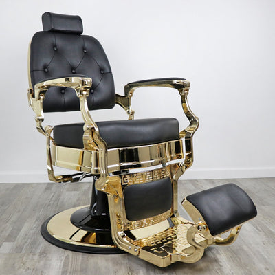 Knockout Gold Barber Chair by Keller International