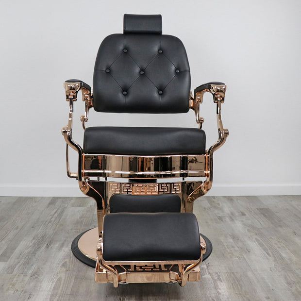 Knockout Rose Gold Barber Chair by Keller International