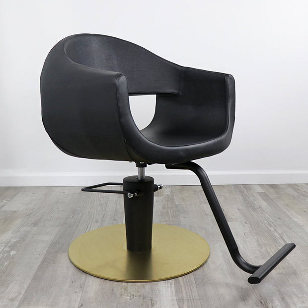 Luna Salon Chair in black by Keller International