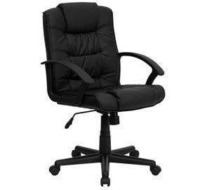 Padded Black Client Manicure Chair by Keller International