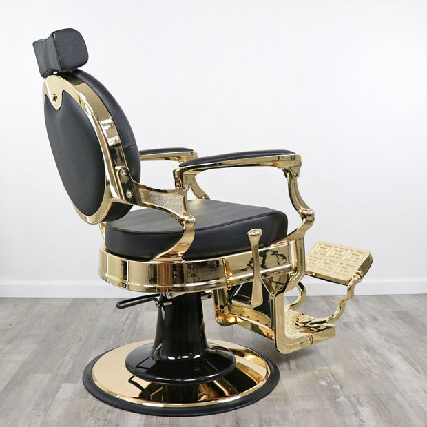 Toronto Gold Barber Chair by Keller International