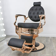 Toronto Rose Gold Barber Chair by Keller International