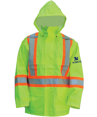 High Vis Jacket with Detachable Hood