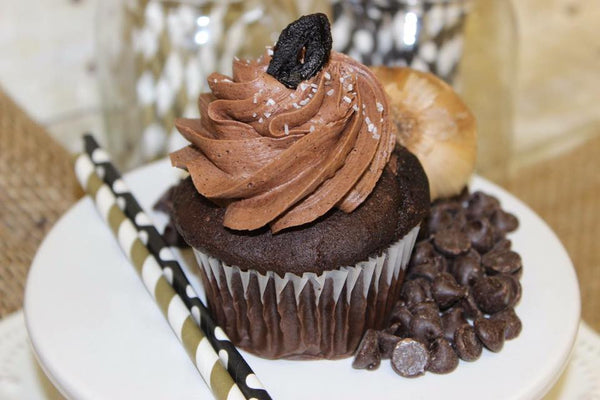 Black Garlic Truffle Cupcake