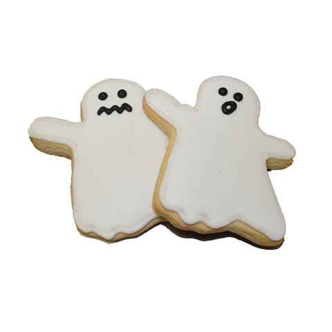 October Halloween Ghost Cookies