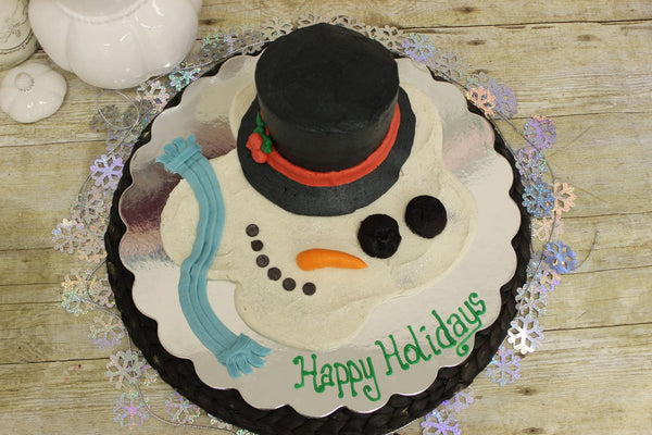 Ava's Melted Snowman Cake