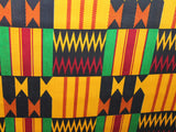 African Cotton Print #1442 - Black - Golden D'or Fabrics - 3