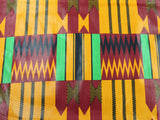 African Cotton Print #1442 - Red - Golden D'or Fabrics - 2