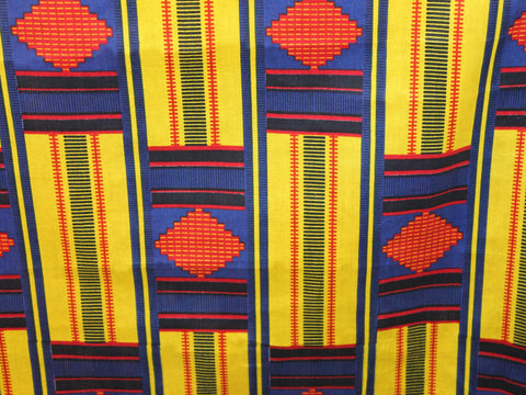 African Cotton Print #1443 - Blue - Golden D'or Fabrics - 1