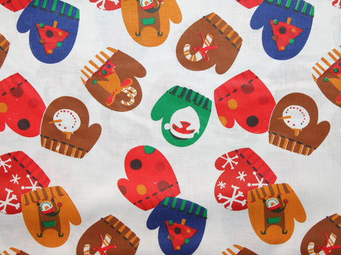 Christmas Mittens Cotton -  - Golden D'or Fabrics