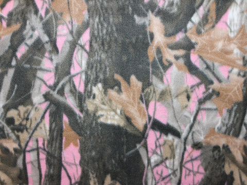 Deepwoods Fleece- Pink -  - Golden D'or Fabrics