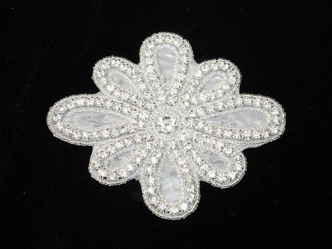 Rhinestone Daisy Applique - Golden D'or Fabrics