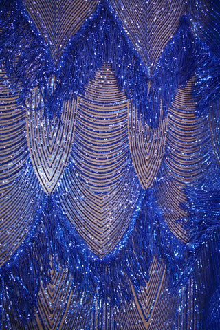 Sequin Fringe TZ-4118 Royal