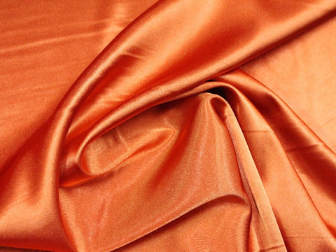 Lycra Stretch Satin- Rust