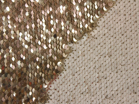 Mermaid Sequins- Beige/Gold
