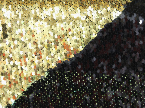 Mermaid Sequins- Black/Gold