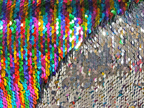 Mermaid Sequins- Multi/Silver