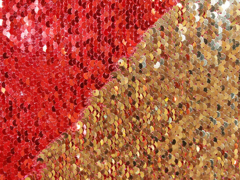 Mermaid Sequins- Red/Gold