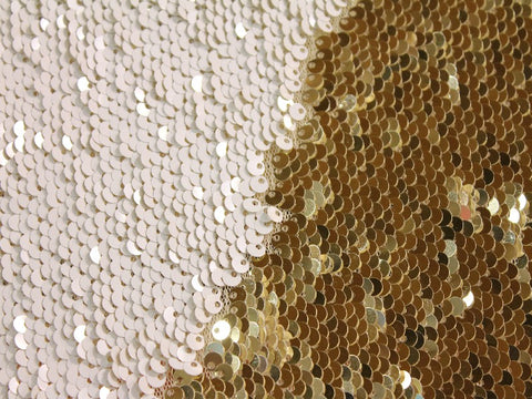 Mermaid Sequins- White/Gold